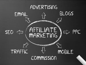 Affiliate Marketing -skrevet på tavle