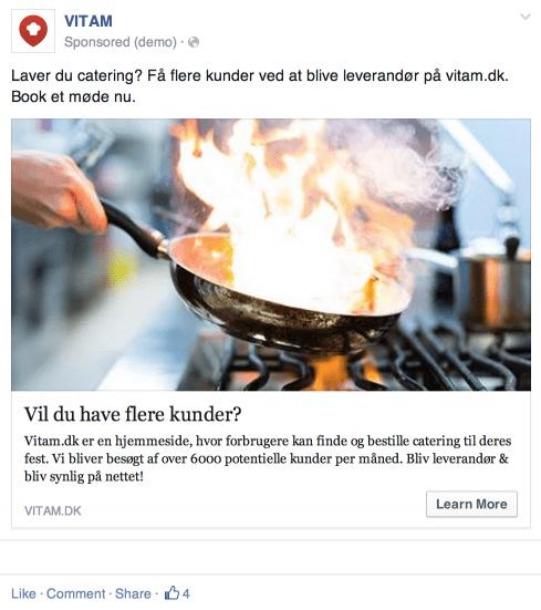 Vitam Facebook Ad